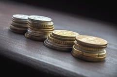 Różnorodna europejska monety kolekcja Obraz Royalty Free