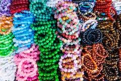 Różnorodna Kolorowa Kamienna Paciorkowata bransoletka Zdjęcie Stock