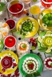 różnorodna kremowa owocowa galareta Obraz Royalty Free