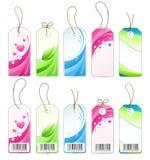 różnorodne barwione etykietki Fotografia Royalty Free
