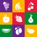 Różnorodne owoc na koloru tle Obraz Royalty Free
