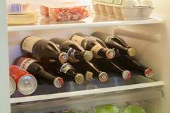 Różnorodne piwne butelki Zdjęcie Royalty Free
