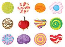 Różnorodni cukierki Zdjęcia Royalty Free