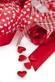 Różnorodni czerwoni faborki Zdjęcia Royalty Free