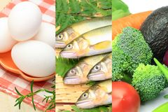 Różnorodni jedzenia Zdjęcia Stock