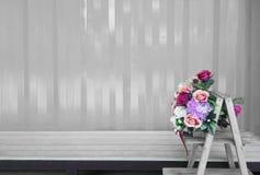 Różnorodni kwiaty na monochromatic tle Obraz Royalty Free