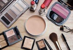 Różnorodni makeup produkty Zdjęcia Stock