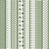 różnorodni motywów barwioni wzory Zdjęcie Stock
