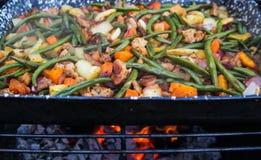 Różnorodni piec na grillu warzywa Fotografia Royalty Free