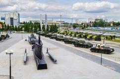 Różnorodni pojazdy wojskowi w plenerowym terenie muzeum Zdjęcie Royalty Free