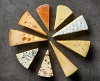 różnorodni serowi typ Fotografia Stock