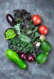 Różnorodni warzywa above fotografia stock