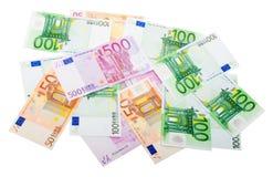 różnorodny banknotu euro Obrazy Stock