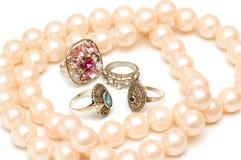 różnorodny odosobniony jewelery Obrazy Stock
