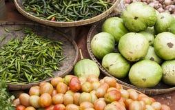 Różnorodny warzywo, plenerowy rynek Fotografia Stock