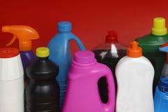 różny cleaning na czerwonym tle Obraz Stock