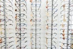 Różny eyewear na specjalnym przodzie Obrazy Stock