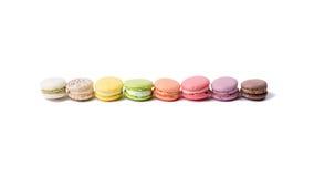 Różny i barwiony macaroon w linii Obraz Stock