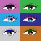 Różny oka makeup Obrazy Stock
