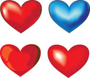 różny serce cztery Zdjęcie Royalty Free