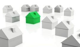 Różny zielony dom Obrazy Stock