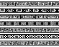Różnych meanderów ansient wzorów szeroki ramowy element Fotografia Royalty Free