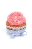 Różowa babeczka Zdjęcie Royalty Free