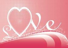 Różowa deseniowa wektorowa walentynka dnia karta fotografia royalty free