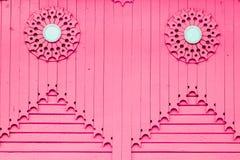 Różowa drewniana pionowo deska Obraz Stock