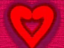 Różowa Drewniana tekstura z sercem Fotografia Royalty Free