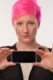Różowa fryzury kobieta Zdjęcia Royalty Free