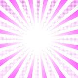 Różowa halftone skutka wektoru ilustracja Zdjęcia Stock