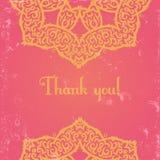 Różowa hindus karta Obraz Royalty Free