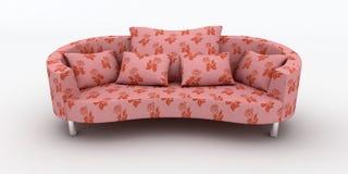 różowa kanapa Zdjęcia Royalty Free