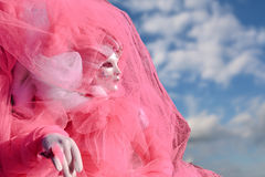 Różowa maska i kostium na Weneckim Obraz Stock
