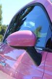 różowa samochód kobieta s Obrazy Royalty Free