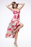 różowa smokingowa kobieta Zdjęcia Stock