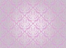 Różowa & srebna tapeta Obraz Royalty Free