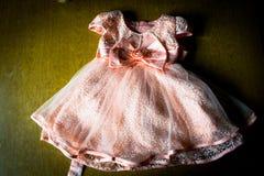 Różowa sukienka Zdjęcia Royalty Free
