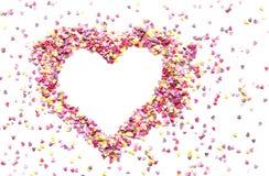 Różowa sympatia candys Zdjęcia Stock