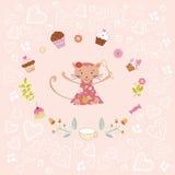 Różowa urodzinowa karta Obraz Royalty Free