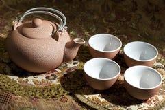 różowa ustalona herbata Zdjęcie Stock