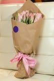 różowe bukietów tulipany Zdjęcie Royalty Free