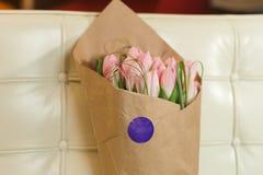 różowe bukietów tulipany Obrazy Stock