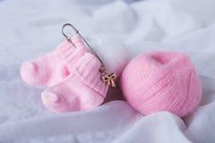 Różowe dziecko skarpety Obraz Stock