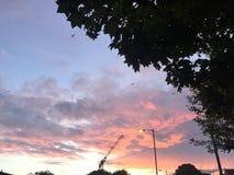 różowe niebo Zdjęcia Stock