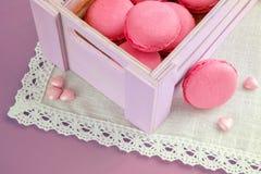 Różowi macarons Zdjęcia Stock