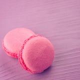 Różowi macarons Fotografia Stock