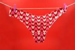 Różowi majtasy z serce akcyjnymi wizerunkami Obraz Royalty Free