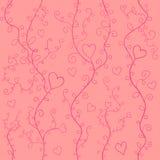 Różowi serca ilustracja wektor